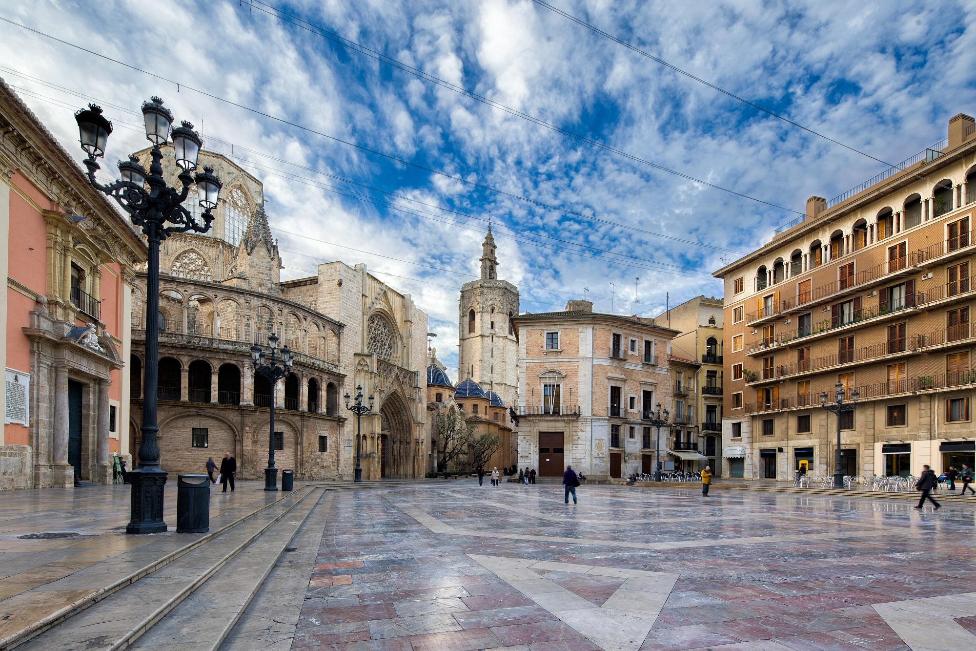 Valencia-Plaza Virgen-España