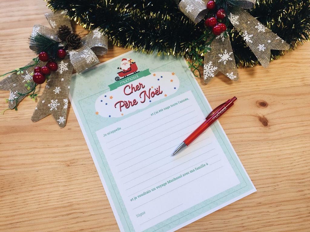 Lettre Pour Le Pere Noel.Lettre Téléchargeable Pour écrire Au Père Noël