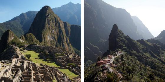 Machu Picchu (à gauche) VS Las Masca (à droite)